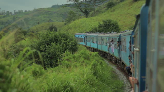 train journey, kandy to ella - sri lanka stock videos and b-roll footage