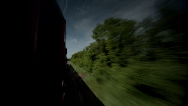 train journey through rural land - moving past stock videos & royalty-free footage