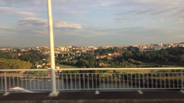 train journey through vila nova de gaia, quebrantöes, porto, portugal - train point of view stock videos & royalty-free footage