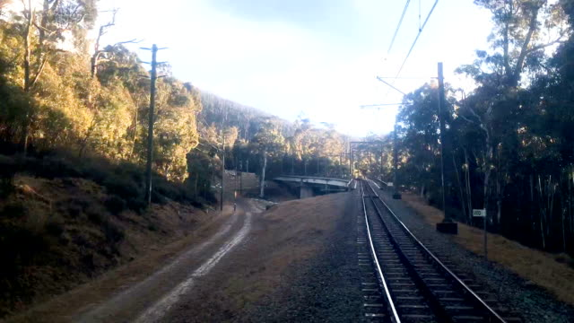 train journey timelapse - railway track stock videos & royalty-free footage