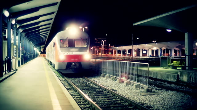 hd - train leaving station - railway station platform stock videos and b-roll footage