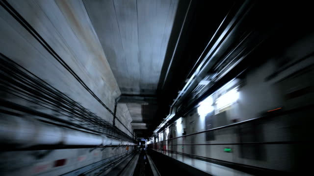 train leaving through the tunnel - tunnel stock videos & royalty-free footage