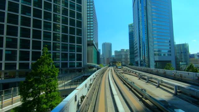 train moving in tokyo, japan - plusphoto stock videos & royalty-free footage