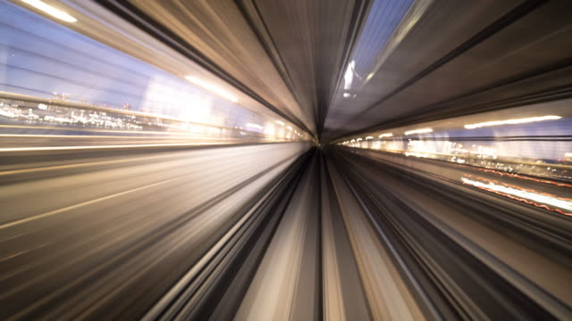 train moving in tunnel timelapse - high speed train stock videos & royalty-free footage