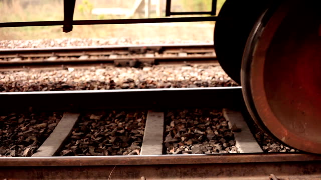 train moving past - railway track stock videos & royalty-free footage