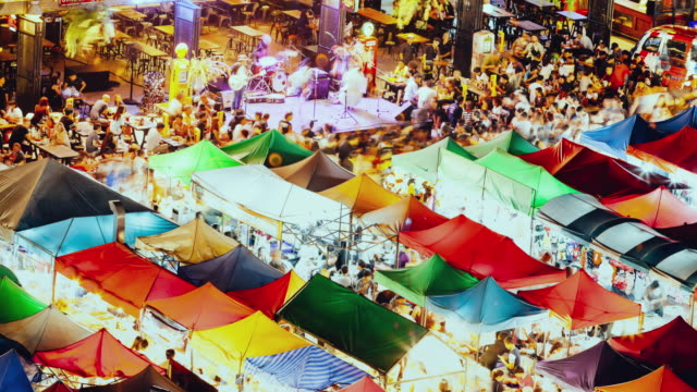 train night market ratchada. - bangkok stock videos & royalty-free footage