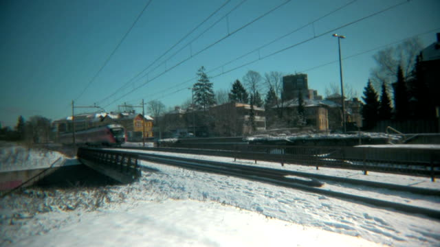 train on a snow. - peter snow stock videos & royalty-free footage