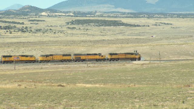 train on an open plain