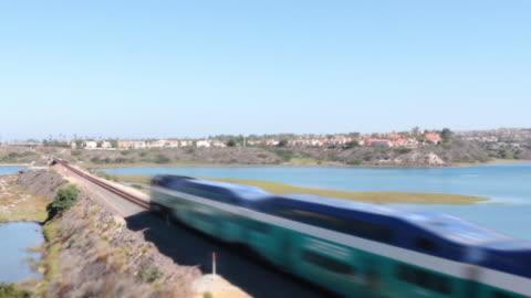 train on sunny day - carlsbad california stock videos & royalty-free footage
