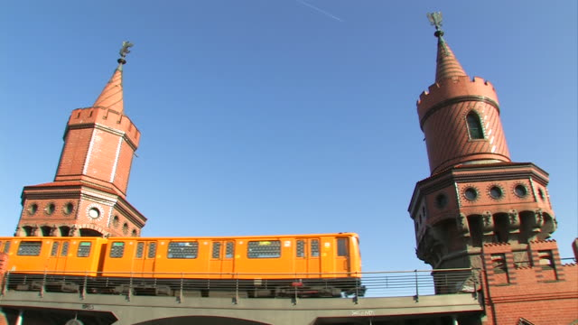 Train on the 'Oberbaumbrücke' in Berlin