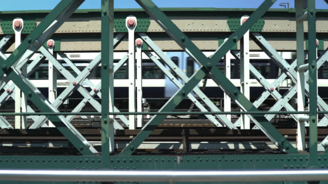 train over hungerford bridge in london, uk - hungerford bridge stock videos & royalty-free footage