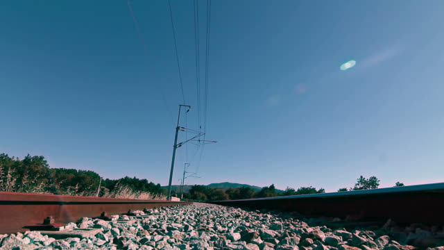 train overhead - moving past stock videos and b-roll footage