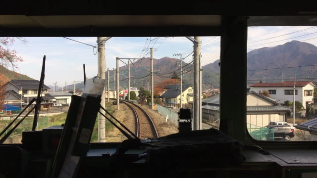 train passing autumn landscape