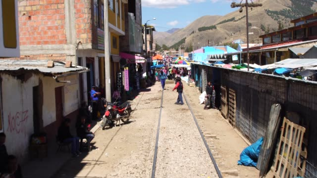 train passing by cusco countryside, peru - peruvian ethnicity stock videos and b-roll footage