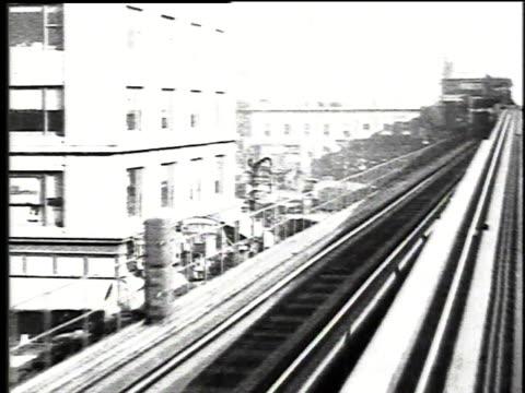 1916 WS train passing Hippodrome Theater / New York, New York, United States