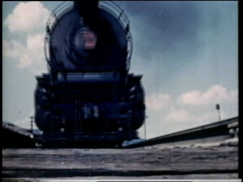 1941 LA train passing over camera / United States