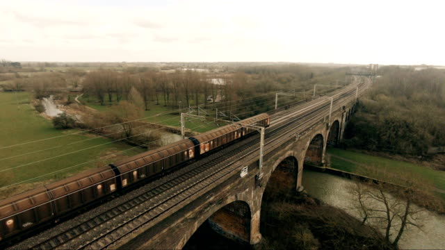 train passing over the viaduct - cargo train stock videos & royalty-free footage