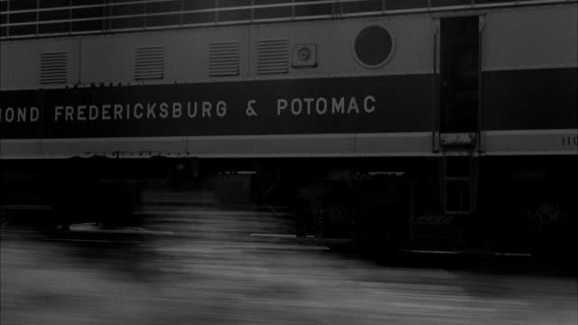 ms pov train passing through railtracks  - train point of view stock videos & royalty-free footage