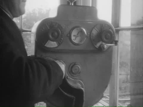 vidéos et rushes de ws ts train passing through swiss mountains /  switzerland - levier de contrôle