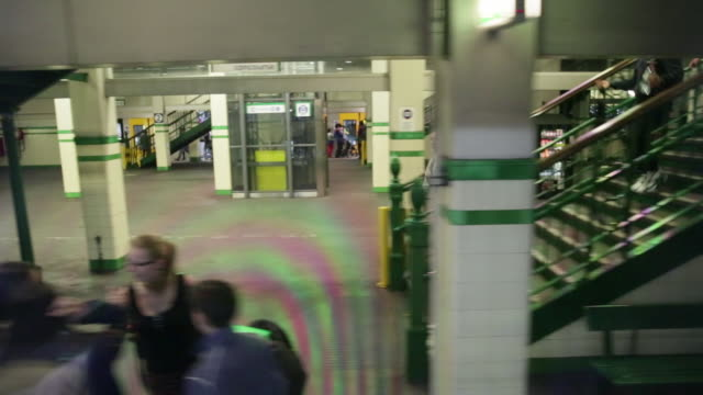 Train pulls into subway station