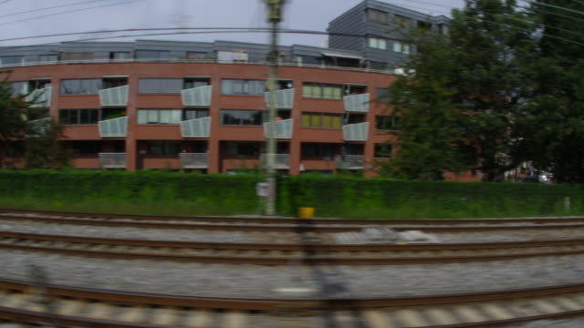train ride at amsterdam - railroad track stock videos and b-roll footage