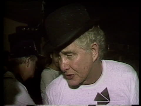 Train robber Ronnie Biggs emphasizes need for British government to review his case as wanted man following his escape from prison July 1985