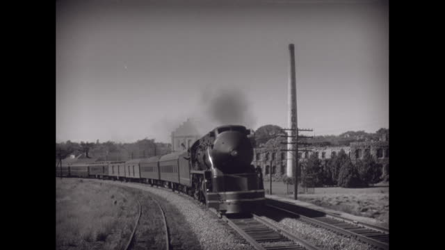 ws train running on railway track / united states - the past stock videos & royalty-free footage