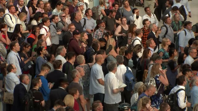 train services disrupted by hot weather; england: london: waterloo station: int various of passengers waiting on crowded station concourse - waiting stock videos & royalty-free footage