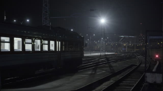 train station at foggy night - station stock videos & royalty-free footage