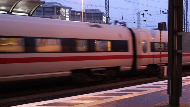 train station, germany - train vehicle stock-videos und b-roll-filmmaterial