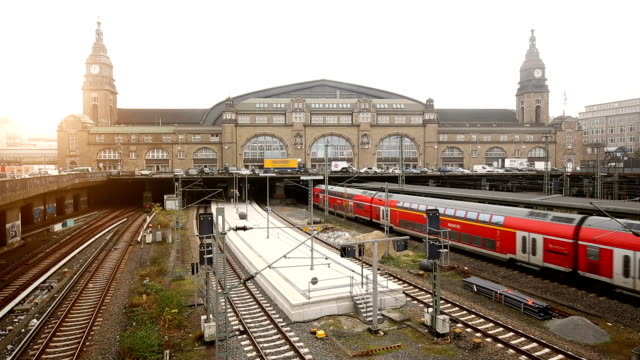 train station in hamburg - railway station stock videos & royalty-free footage