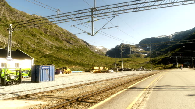 train station in the norwegian mountains - nutshell stock videos and b-roll footage