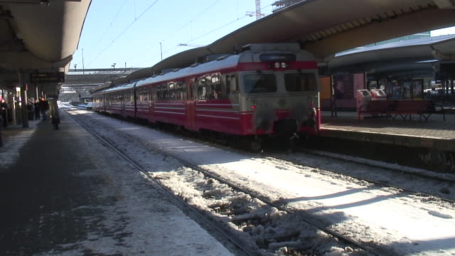 train station in the winter - railway station stock videos and b-roll footage