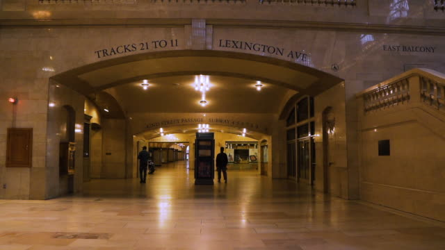 train station pandemic slow motion - grand central station manhattan stock videos & royalty-free footage