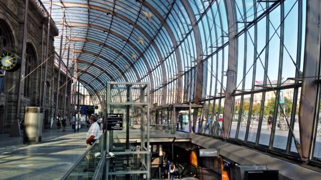 train station - strasbourg stock videos & royalty-free footage