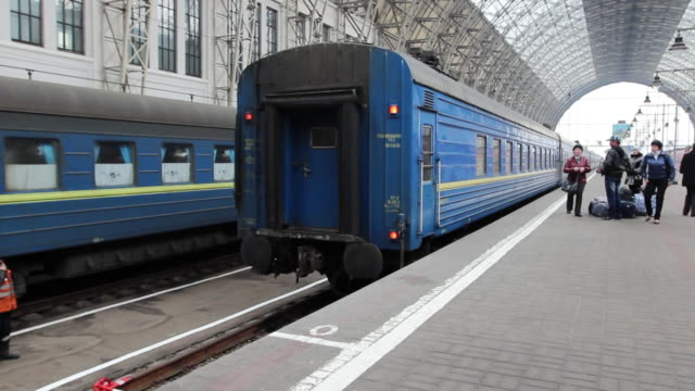 MS PAN Train stoping at station / Moscow, Moscow, Russia