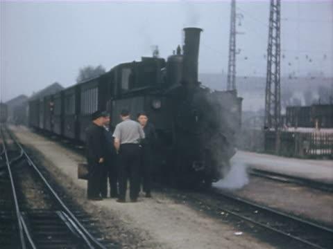 WS Train through rural areas and various stations, man oiling wheels and maintenance / Various including Banbury, Shrewsbury, Cambrian Coast, Wales