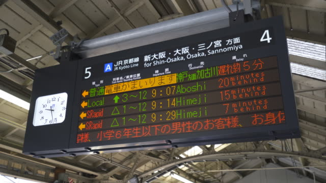 train time table showing delay due to heavy snow - information sign stock videos & royalty-free footage