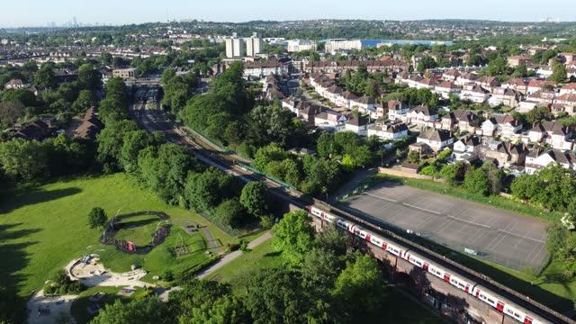 train to london - passenger train stock videos & royalty-free footage