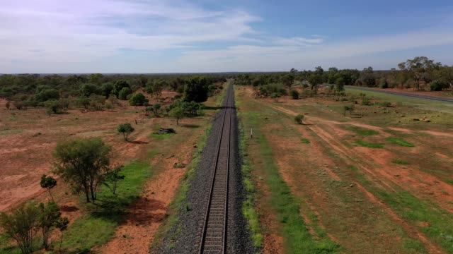 train track in country australia - cargo train stock videos & royalty-free footage
