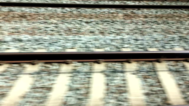 Train tracks in motion