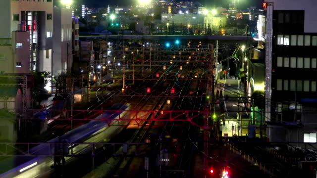 Bahngleise Zeitraffer