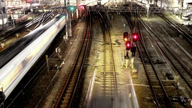 Tren pistas timelapse