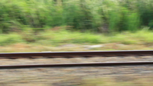 train tracks - train point of view stock videos & royalty-free footage
