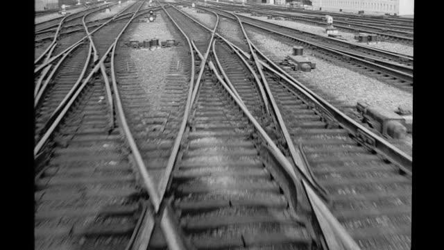 train tracks - rail transportation stock videos and b-roll footage