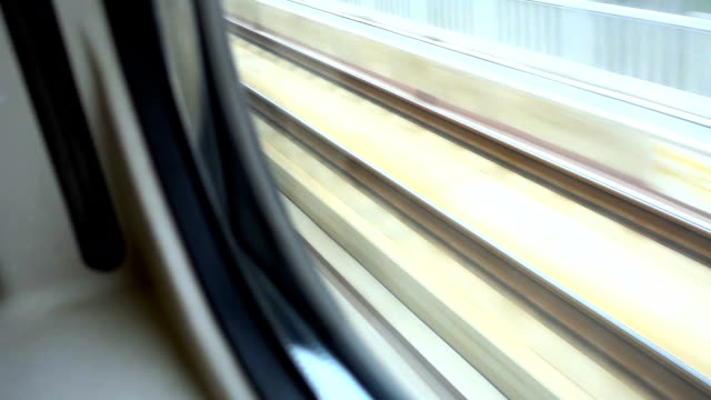 train tracks,looking from train window - see through stock videos & royalty-free footage