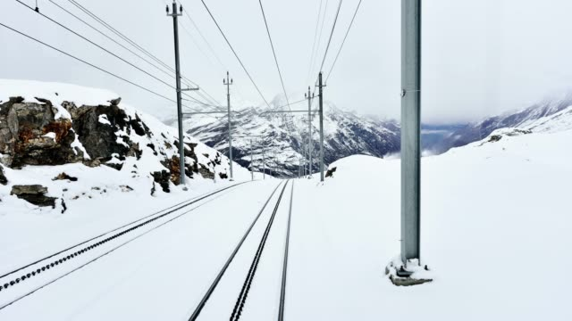 4k: train traffic time lapse, zermatt, switzerland - tramway stock videos & royalty-free footage
