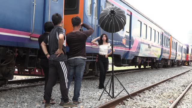 train travel has largely ground to a halt in cambodia due to the coronavirus but railway fans can still get their fix aboard a stationary carriage... - hipster culture stock videos & royalty-free footage