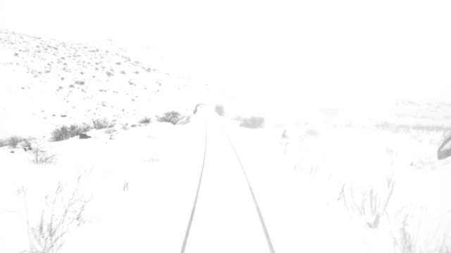 train travel in railway tunnel in winter - kars stock videos & royalty-free footage