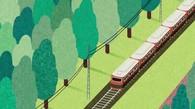 vídeos y material grabado en eventos de stock de train travel - gráficos de movimiento